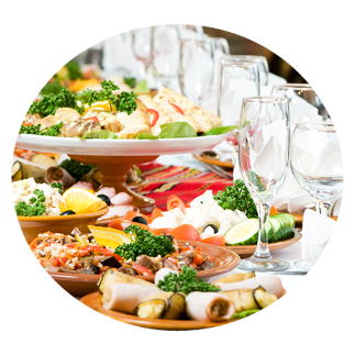 Delicious dishes prepared by event caterers in Morely